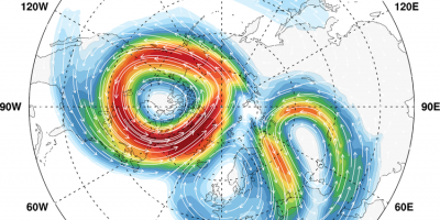 Stratospheric polar vortex Feb 2018